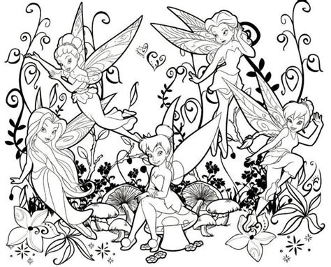 Online Printable Tinkerbell And Other Fairies Coloring