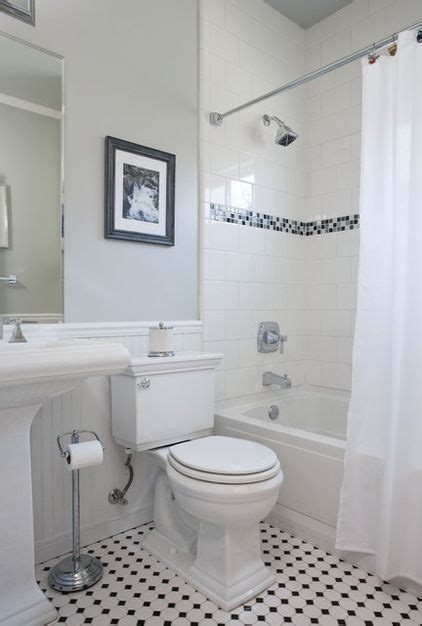 black white mosaic floor square tiles in shower set with