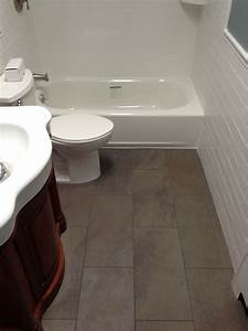 Large tile small bathroom tiling contractor talk for Small or large tiles for small bathroom