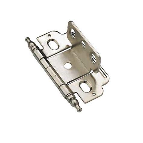 amerock cabinet hinge parts amerock full inset minaret tip hinge nickel sold each