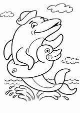 Dolphin Coloring Printable Animal 2200 sketch template