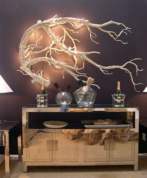 tree branch sconce electrified decorative driftwood
