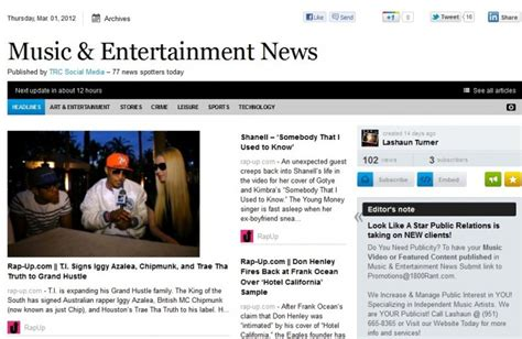 New Music & Entertainment News Daily Publication