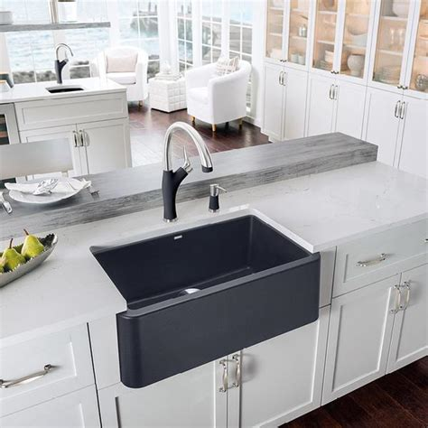 silgranit kitchen sink blanco ikon 30 quot apron front granite composite sink in 2217