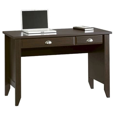 sauder shoal creek computer desk jamocha wood shoal creek computer desk with flip keyboard