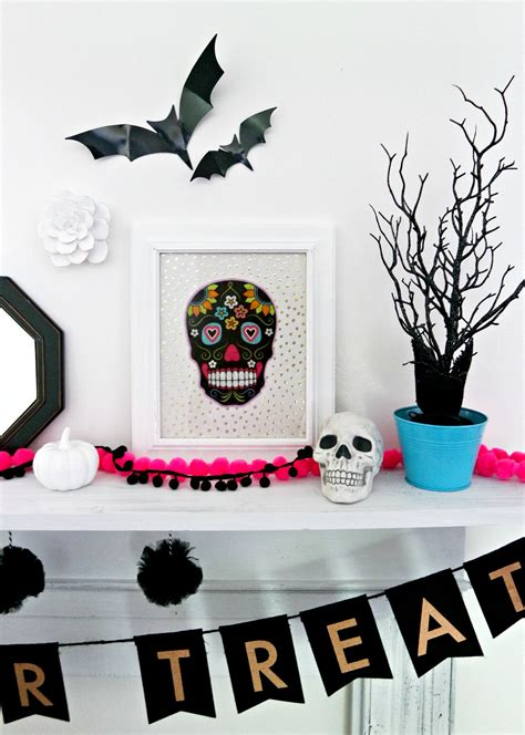 diy dollar store skull halloween decor  life  kids