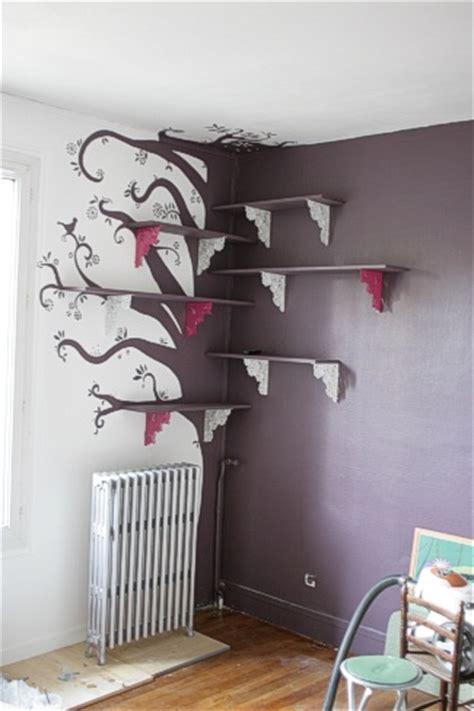 comment dessiner sur un mur de chambre décoration chambre des filles 1 ciloubidouille