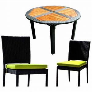 Table De Jardin Resine : ensemble table ronde de jardin en teck et chaises de jardin en r sine ~ Teatrodelosmanantiales.com Idées de Décoration
