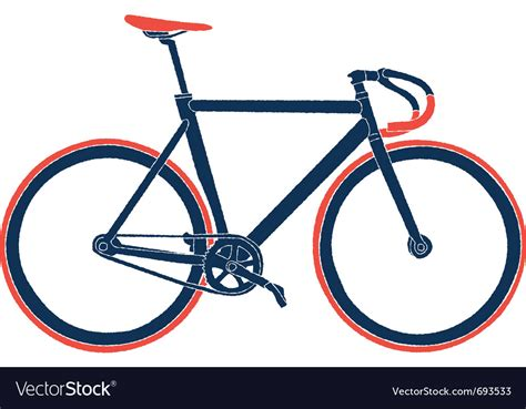 Fixed Gear Bicycle Royalty Free Vector Image