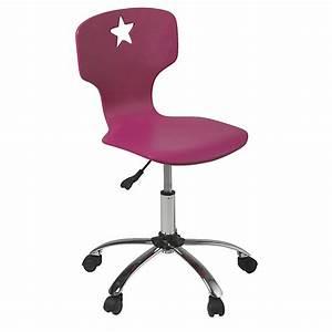 Chaise De Bureau Rose : chaise de bureau junior rose roulettes star fauteuils chaises roulettes si ges ~ Teatrodelosmanantiales.com Idées de Décoration
