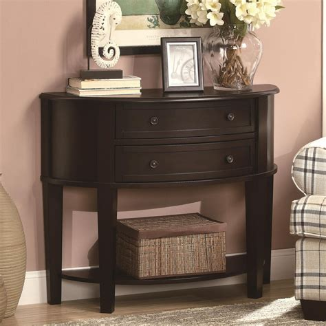 white entry table with drawers furniture black wooden console table with drawer and open