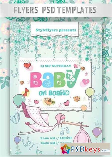 Baby On Board Template by Baby On Board Flyer Psd Template Cover 187 Free