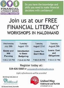 Free Financial Literacy Workshop Series in Haldimand and ...