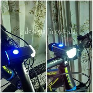 Jual Lampu Depan Sepeda Rechargeable Machfally