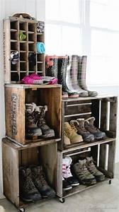 Rangement Chaussures Original : rangement chaussures original voici 20 id es r cup jardinage pinterest maison ~ Teatrodelosmanantiales.com Idées de Décoration