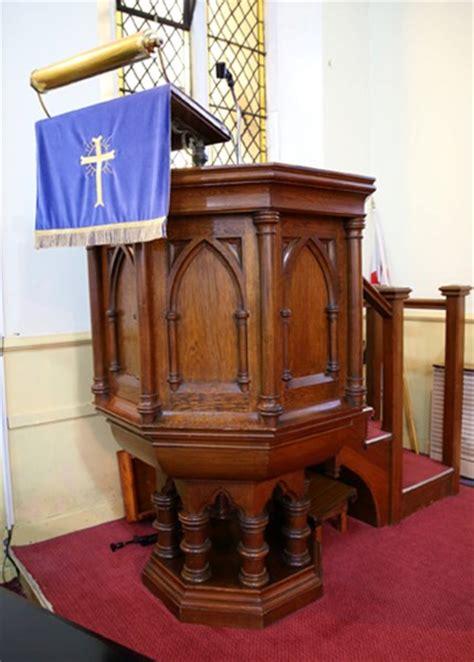 original antique church pulpit  stairs   oak