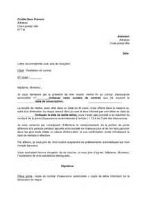 Lettre De Résiliation Assurance Vie by Lettre De R 233 Siliation De Contrat D Assurance Automobile