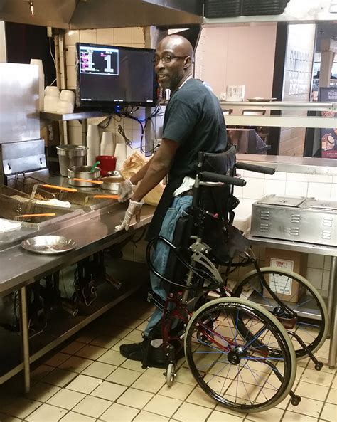 stand  wheelchair lets chef  disabilities continue