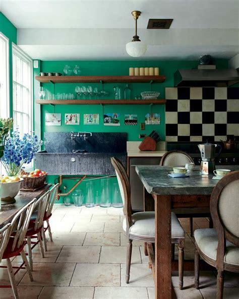 black white and green kitchen cuisine verte pour un int 233 rieur naturel et doux 7912