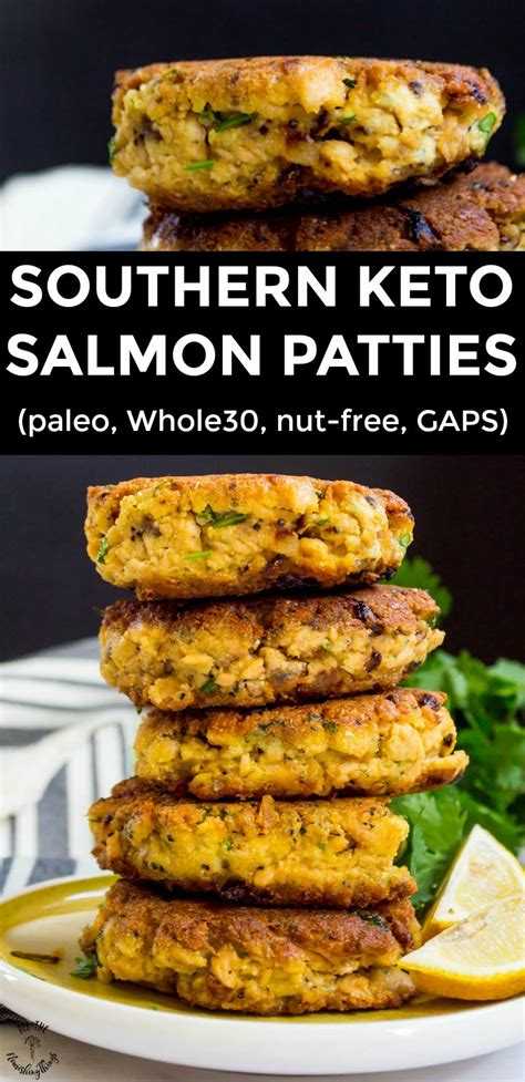 I can't stress enough the importance of choosing wild caught salmon for it's health benefits. Southern Keto Salmon Patties (paleo, Whole30, nut-free, GAPS)