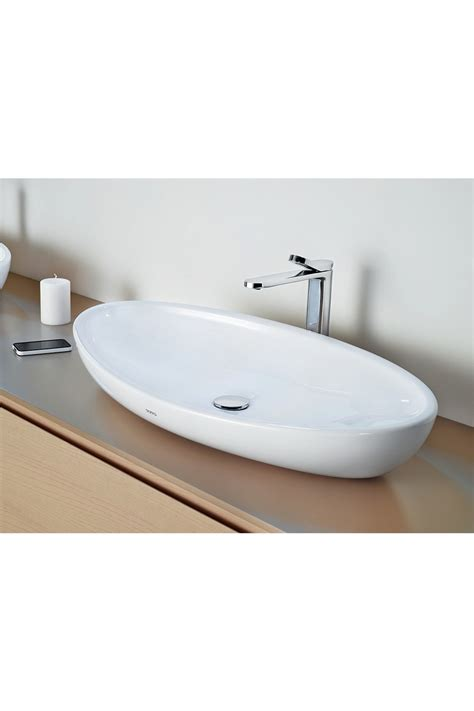 kitchen sink drains toto toto le muse 800mm oval counter top basin 2684