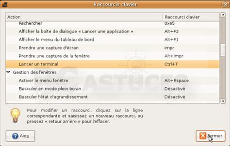 ubuntu raccourci bureau pc astuces assigner un raccourci clavier au terminal