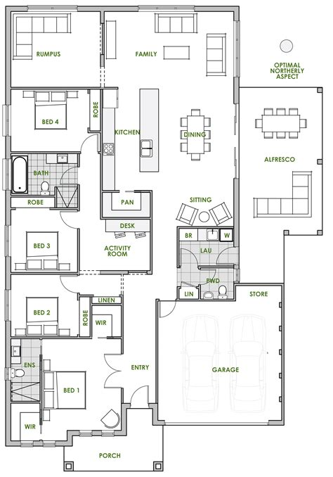 5 Bedroom House Plans Australia by Ningaloo Energy Efficient Home Design Green Homes