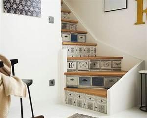 relookez votre escalier avec des stickers tout savoir en With carrelage adhesif salle de bain avec par 64 led