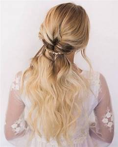 40 Stunning Half Up Half Down Wedding Hairstyles with Tutorial Deer Pearl Flowers