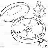 Bussola Colorare Compass Drawing Kompas Coloring Bianco Libro Nero Pagina Zwart Magnet Rosa Clip Wit Immagini Witte Kleurende Boekpagina Venti sketch template