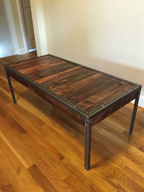 mixed pallet wood  angle iron coffee table total cost