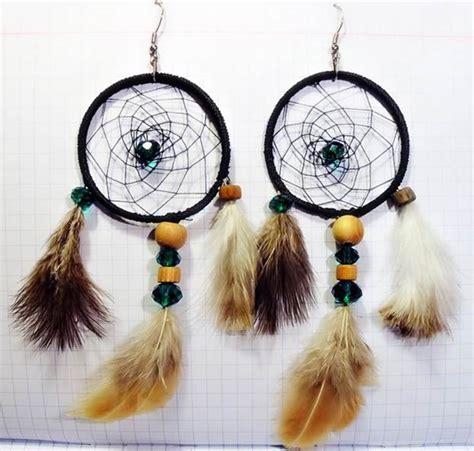 dreamcatcher earrings diy  fun