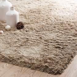 tapis a poils longs en tissu beige 160 x 230 cm inuit With tapis à poils longs