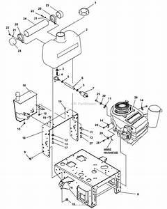 Bunton  Bobcat  Ryan 630323 Power Unit 17hp Kawasaki Hydro Parts Diagram For Upper Engine Deck Assy