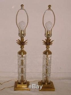 frederick cooper l shades pair vintage frederick cooper cut crystal brass table