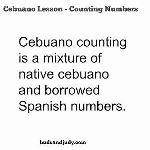 Cebuano101: How to Count Numbers in Bisaya or Cebuano