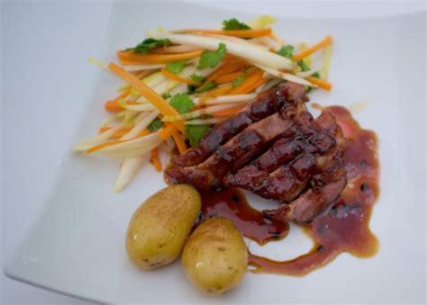 cuisine gastrique magret de canard et gastrique au fruit de la la
