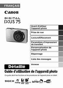 Multimetre Digital Mode D Emploi : mode d 39 emploi canon digital ixus 75 appareil photo ~ Dailycaller-alerts.com Idées de Décoration