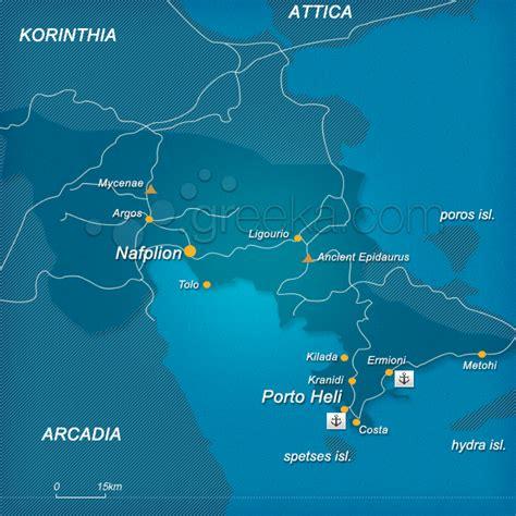map of porto heli greece greeka com
