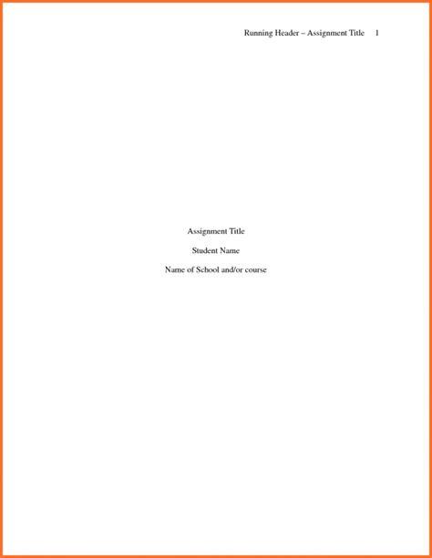Apa Title Page Template Apa Title Page Template Apa Title Page Template Format