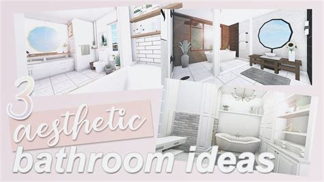 aesthetic bathroom ideas roblox bloxburg youtube