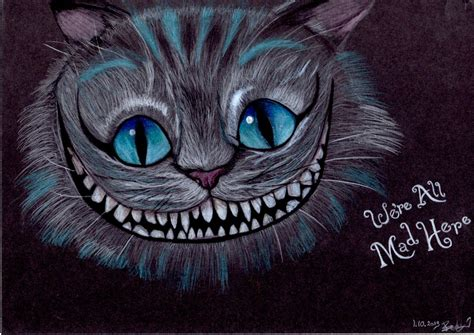 cheshire cat drawing  janebecky  deviantart