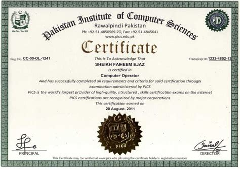 free it certifications pics test certificate sle