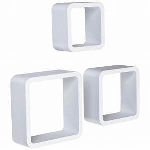 Etagere Cube Blanc : tag re murale x3 cube design blanc etag re white label ~ Teatrodelosmanantiales.com Idées de Décoration