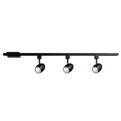 black led track lighting kits hton bay 16033kit bk 3 light 39 37 in black led