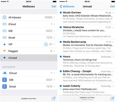 iphone email tip triage your emails more easily by enabling unread