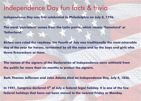 4th of july trivia roberto s random thoughts independence day fun facts trivia enjoy