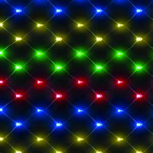 100 battery operated multi coloured led net christmas