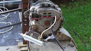 Alternator Demo Wiring  Connection To Battery  Capacitors  Inverter  Modification