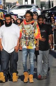 Wiz-Khalifa-wears-KTZ-graphic-print-shirt-Balmain-Jeans ...